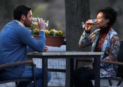 Walter Cordopatri and Annalisa Scalavino in one scene of the film