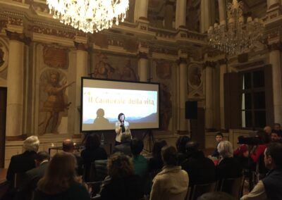 Screening at Vistaterra, Castle of Parella (Torino), February 2020