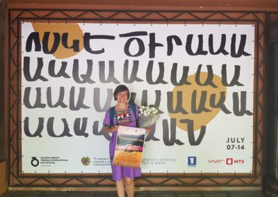 Anteprima mondiale al Golden Apricot Film Festival, Yerevan, Armenia, luglio 2019